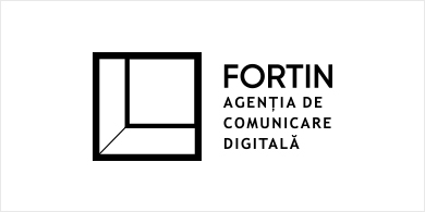 logo fortin background alb