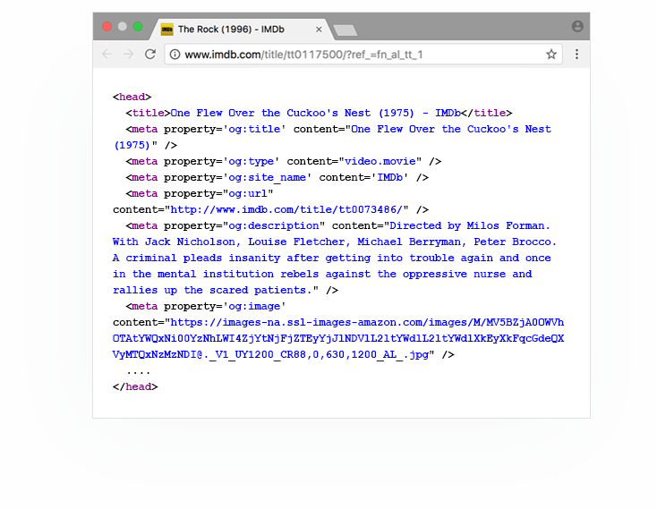 Exemplu cod Open Graph Protocol